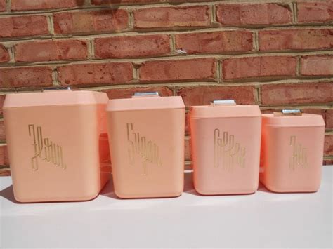 pink kitchen canister set 126 best pink canisters images on vintage