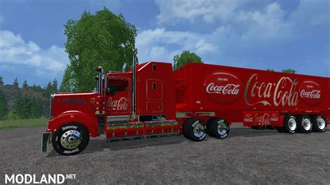 kenworth truck and trailer kenworth cocacola truck and cocacola trailer mod for