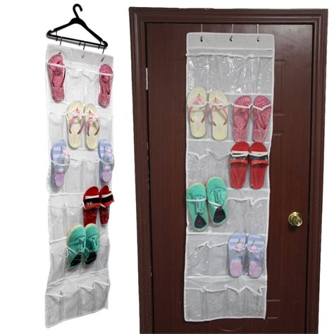 shoe storage door hanger 24 pockets clear door hanging bag shoe rack hanger