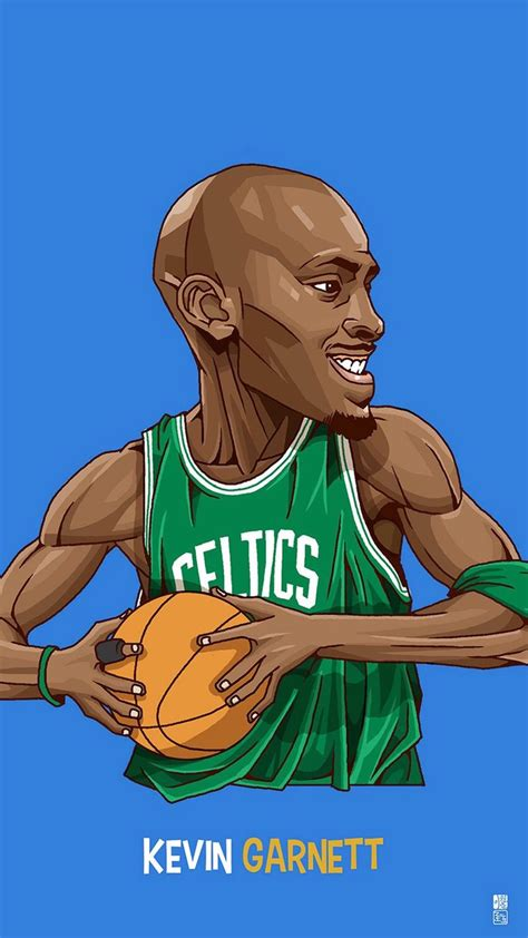 wallpaper cartoon basketball kevom garnett tap to see collection of famous nba