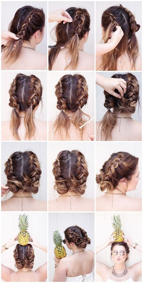 how to make a french roll with braids 40 easy peasy bun hairstyle tutorials for two x chromosomes