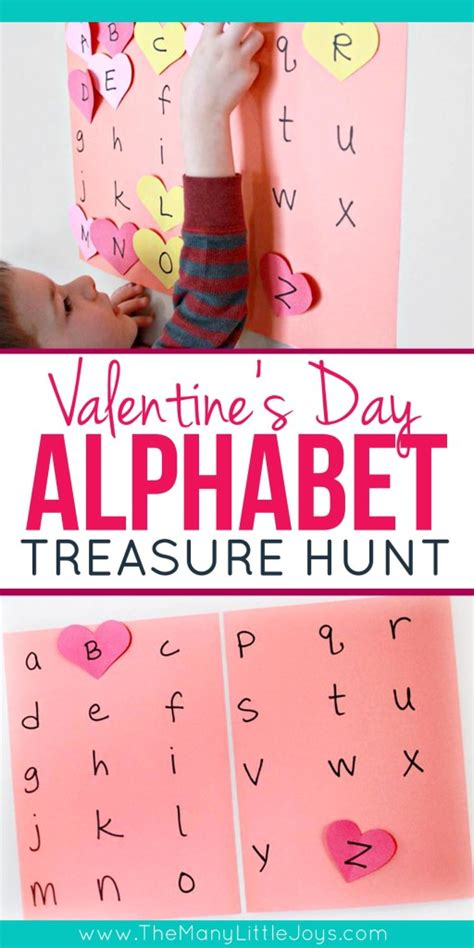 valentines treasure hunt s alphabet treasure hunt the many joys