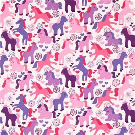 unicornia pattern joli tissu contes de f 233 e licornes mauves michael miller