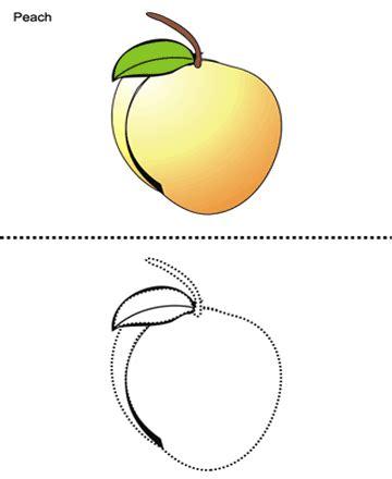 peach printable coloring worksheet