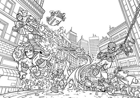 the marvel super heroes christmas coloring book page super hero squad coloring pages printable coloring image