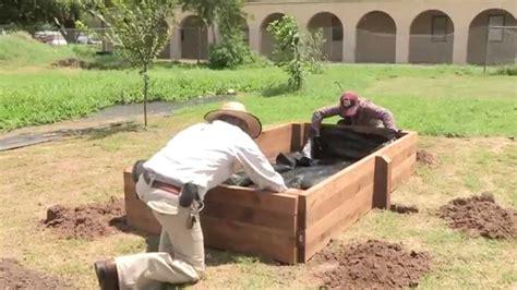 build  raised garden bed youtube