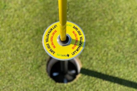 contactless ball lifter golf flag pins hole placement