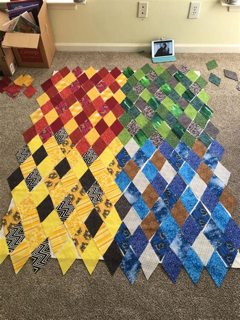 Harry Potter Quilt by Harry Potter House Quilt Piecing Quilting