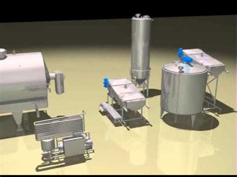 cottage cheese production cottage cheese production line 3d animation