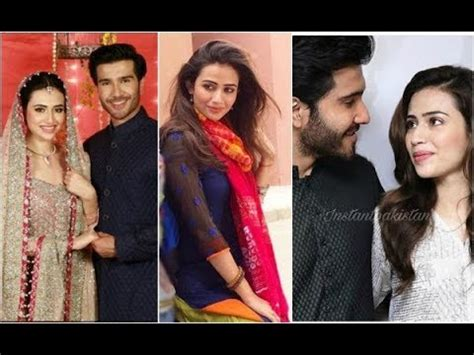 sana javaid and feroze khan on set of their upcoming drama
