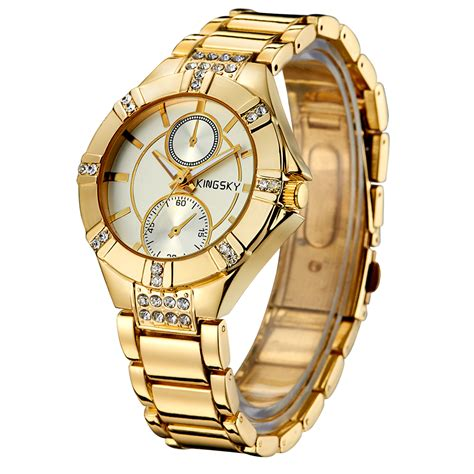 Jam Tangan Esprit Gold List White kingsky jam tangan fashion wanita ky056 white gold