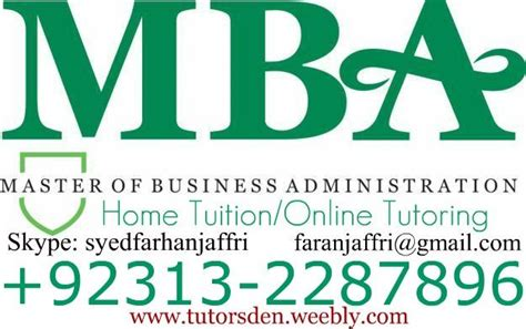 Pre Mba Math Course by Home Tutor In Karachi For Home Tuition Of Gcse Mba O