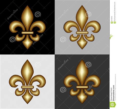fleur de lis 3d design tattooimages biz heraldry design elements stock photography image 8743752
