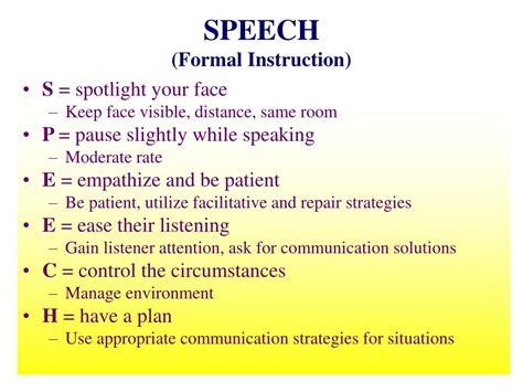 Formal Speech Presentation by Ppt Communication Strategies Powerpoint Presentation Id 325700
