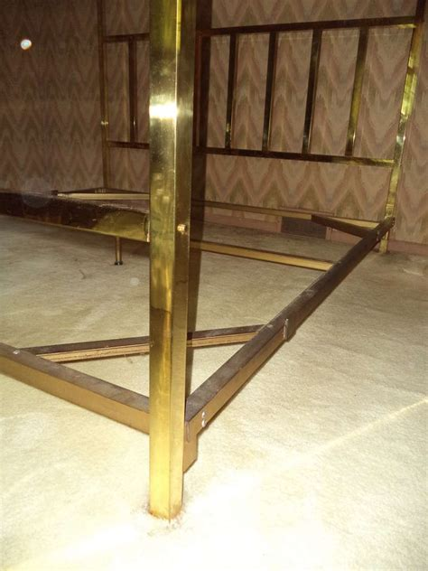 brass canopy bed king size brass four poster canopy bed by pace at 1stdibs