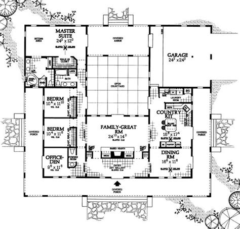 Southwest House Plans With Courtyard Prairie Style Southwest House Plan 90268 Exterior And House