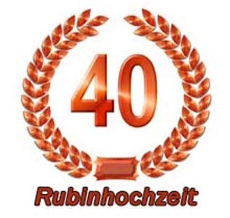 Hochzeit 40 Jahre by Rubinhochzeit Spr 252 Che W 252 Nsche Zum 40 Hochzeitstag