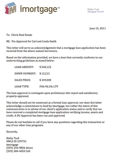 Mortgage Approval Mortgage Approval Ontario Pre Approval Letter Template