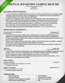 Dental Resume Format by Dental Hygienist Resume Sle Tips Resume Genius