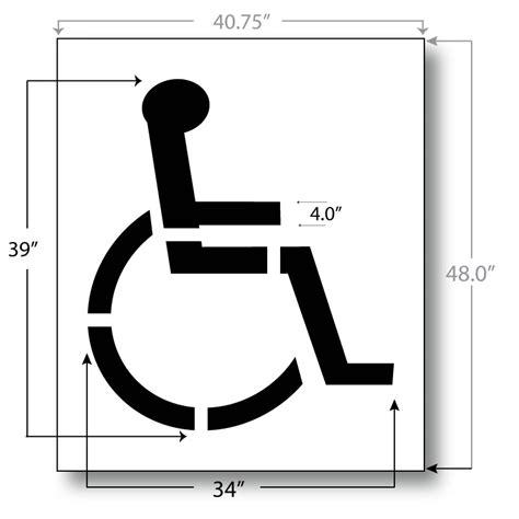 disabled parking template handicap parking stencil 39 inch international standard