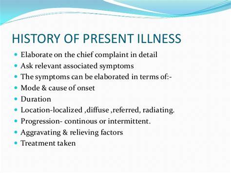 Case History History Of Present Illness Template