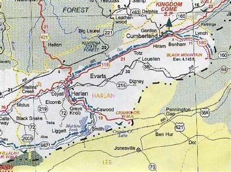 kentucky map harlan county harlan county map kentucky kentucky hotels motels
