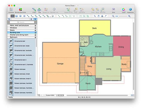 how to create floor plan create a visio floor plan conceptdraw helpdesk
