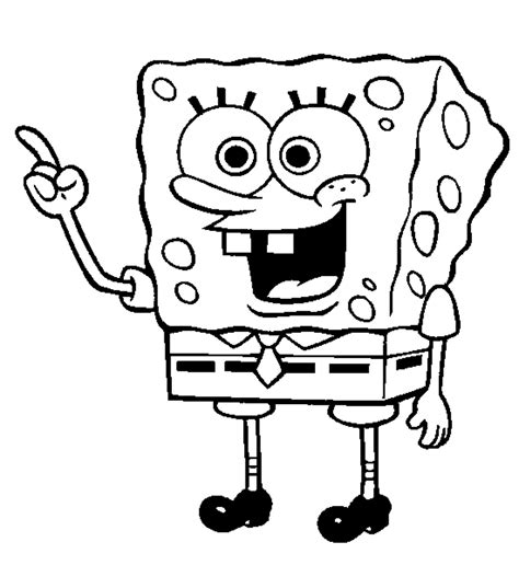 sponge bob colouring pages