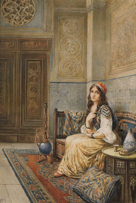 Ottoman Concubine Ottoman Concubines The Harem Fernand Piestre Cormon Arab Harem In And Painting 1000 Images