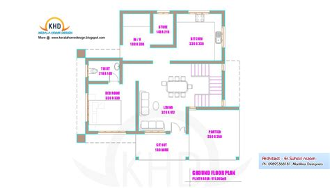 house layout planner home plan and elevation 1250 sq ft kerala home design