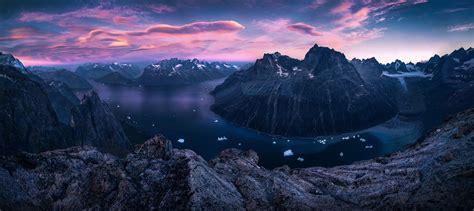 nature landscape sunset mountain panoramas fjord