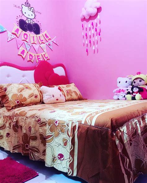 desain dinding kamar tidur hello kitty desain tempat tidur serba hello kitty untuk anak perempuan