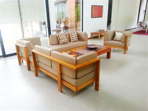 Sofa Set Made Of Wood by 1000 Ideas About Wooden Sofa On Tropical