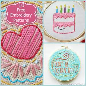 Embroidery Handmade - 10 beautiful and free embroidery patterns