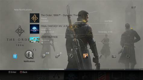 Ps4 Exclusive The Order ps4 exclusive the order 1886 gets its own ps4 dynamic theme screenshots inside