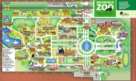 zoo map brookfield zoo map my