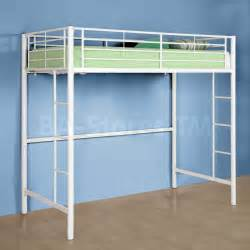 sunrise metal twin loft bunk bed in white walker edison