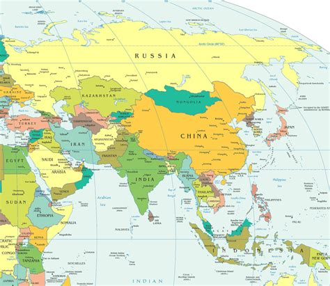 maps of maps of asia and asia countries political maps administrative and road maps physical and