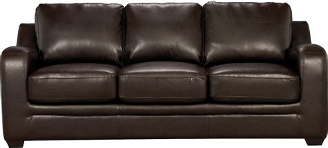 brick couches chase brown faux leather sofa the brick
