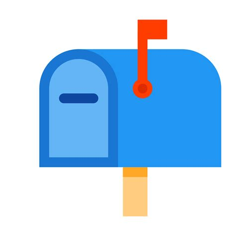 mailbox with mailbox closed flag up icon free at icons8