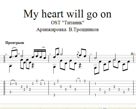 tutorial guitar my heart will go on buy my heart will go on titanic notes tabs for guitar