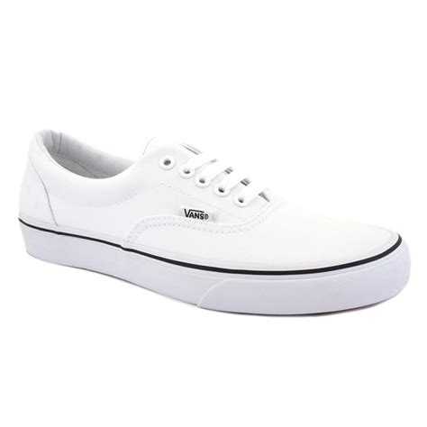 white shoes for vans era mens trainers laced canvas white white new shoes