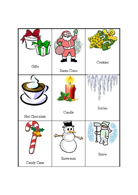 printable christmas pictionary cards christmas pictionary set of 27 cards to download free