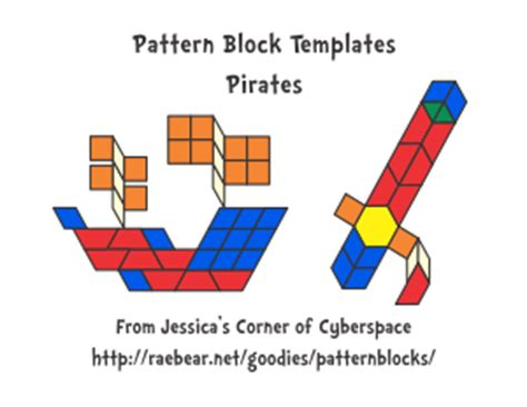 pattern block blackline masters jessica s pattern block templates for educational use