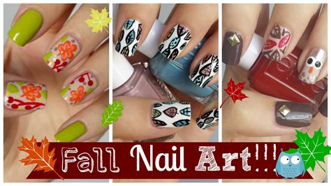 nail art tutorial missjenfabulous fall nail art three easy tutorials missjenfabulous