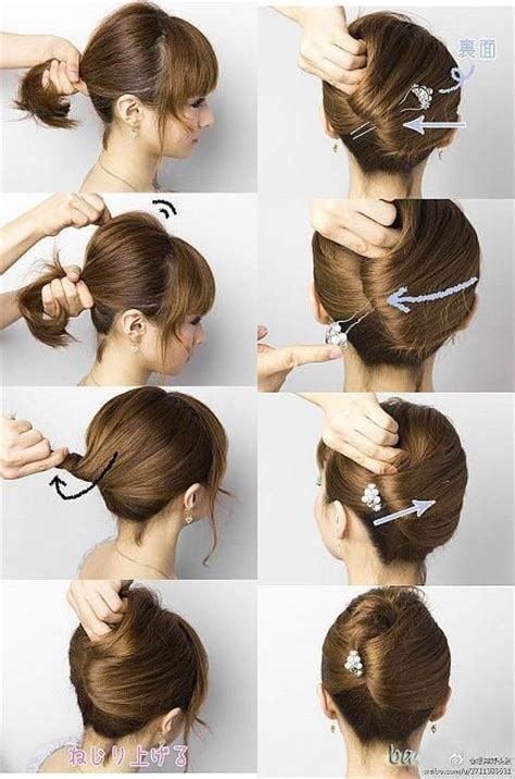 step by step twist hairstyles 17 best ideas about easy french twist on pinterest