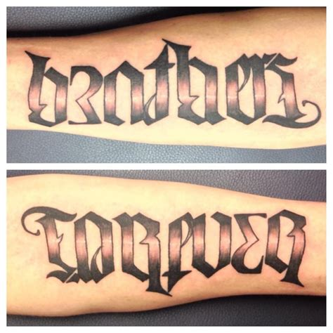 brothers ambigram tattoo design tattoo brothers forever designs www pixshark