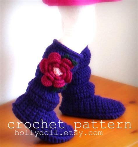 hollydoll crochet boot slippers pattern diy crochet hollydoll slipper boots
