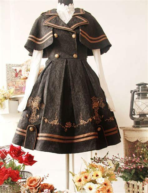 pattern cloak of the black void black gilding cross pattern detachable cloak woolen cloth