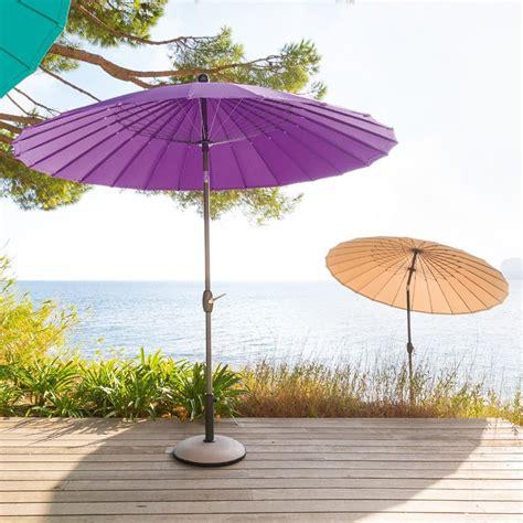 parasol rond inclinable parasol inclinable boyeros rond violet parasol voile et